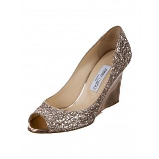 Jimmy Choo Baxen Sao Glitter Wedges