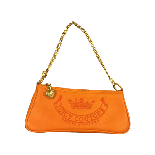 Juicy Couture Orange Signature Pochette Gold Hardware