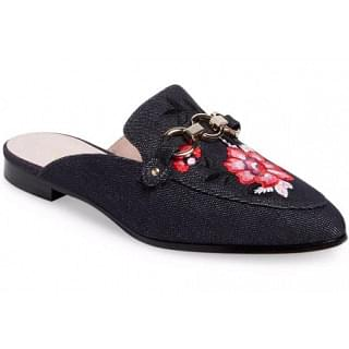 Kate Spade Canyon Indigo Denim Flats Mules