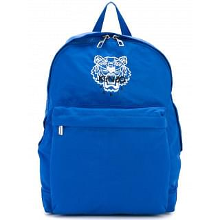 Kenzo Tiger Blue Nylon Backpack