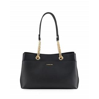Calvin Klein Daytonna Chain Leather Tote Bag