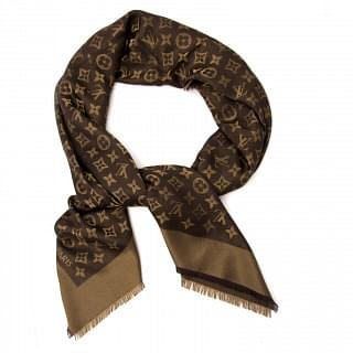 Louis Vuitton Brown Shine Monogram Shawl