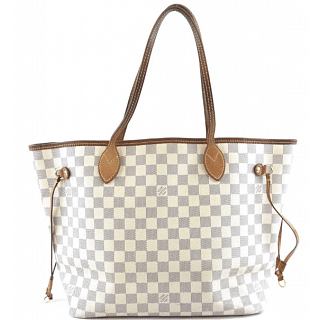 Louis Vuitton Neverfull MM Damier Azur Canvas Tote