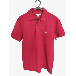 Lacoste Slim Fit Red Polo Shirt