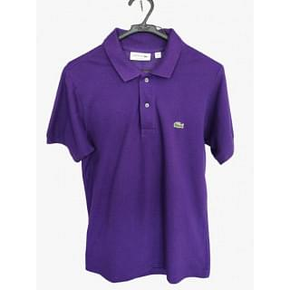 Lacoste Classic Fit Purple Polo Shirt