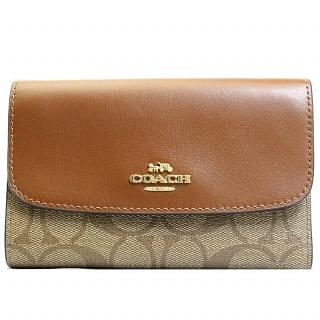 Coach F32485 Signature Medium Envelope Canvas Wallet