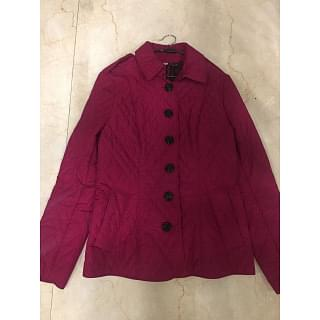 Burberry Magenta Pink Quilted Jacket Coat