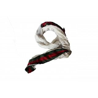 Gucci White Scarf with Signature Stripes