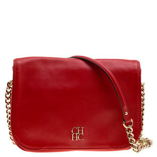Carolina Herrera Red Flap Shoulder Bag