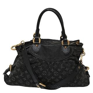 Louis Vuitton Monogram Black Denim Neo Cabby Shoulder Bag