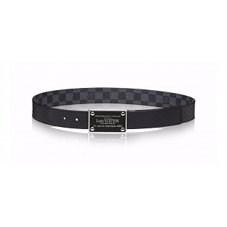Louis Vuitton Inventeur 35mm Reversible Damier Graphite Belt