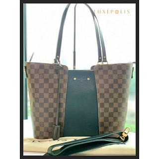 Louis Vuitton Damier Canvas and Taurillon Leather Jersey Tote