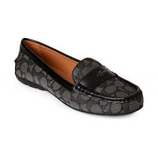 Coach Women's Black Signature Driving Loafers