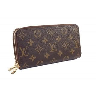 Louis Vuitton Monogram Canvas Double Zipper Wallet
