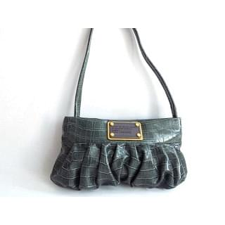 Marc by Marc Jacobs Croc Embossed Patent Leather Capsule Linda Clutch Bag