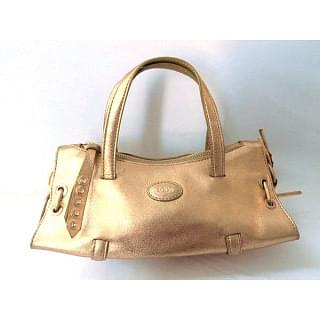 TODS Small Golden Leather bag