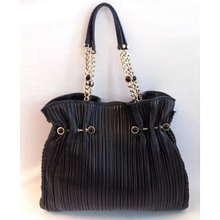 Bvlgari Black Wrinkle Shoulder Bag