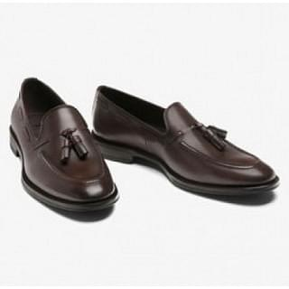 Massimo Dutti Tassel Plain Leather Loafers