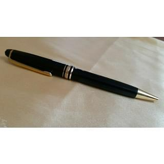 Montblanc Meisterstuck Classique Black With Gold Trim Ball Pen