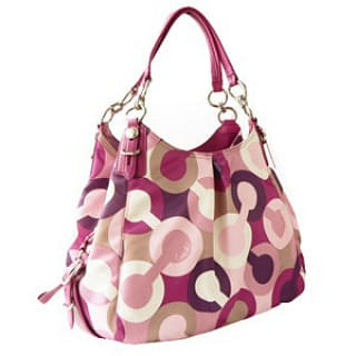 Coach Mia Bias Op Art Maggie Shoulder Bag