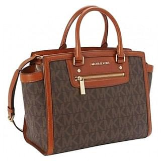 Michael Kors Large Monogram Selma Satchel