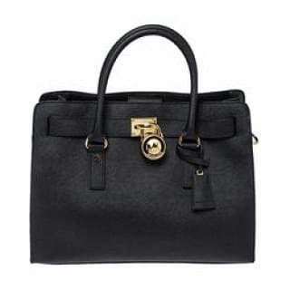 Michael Black Leather East West Hamilton Tote