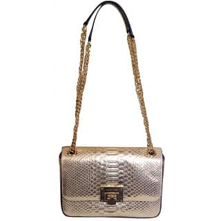 Michael Kors Crocs Embossed Pale Gold Shoulder Bag