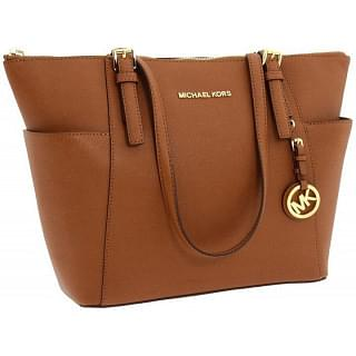 Michael Kors Jet Set Saffiano Leather Top-Zip Tote