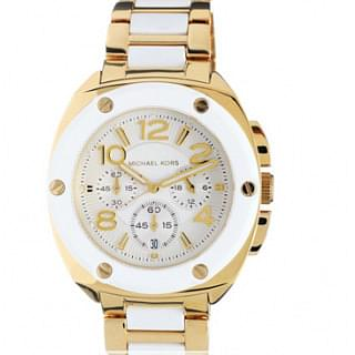 Michael Kors Daily Wear Tribeca Gold & White Watch