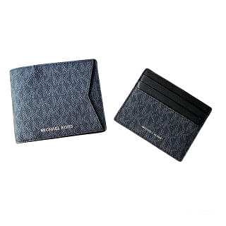 Michael Kors Set Two Piece Leather Billfold Wallet With Card Case