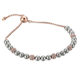 Michael Kors Pave Crystal and Grey Pearl Slider Bracelet
