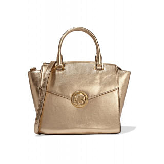 MICHAEL MICHAEL KORS Hudson metallic textured-leather tote
