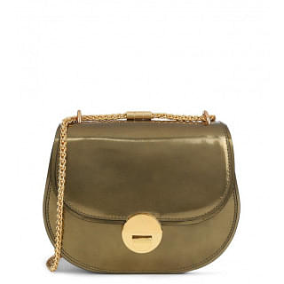 Coccinelle Gold Violane Mirror Crossbody Bag