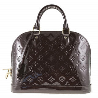 Louis Vuitton Amarante Monogram Vernis Alma PM Handbag