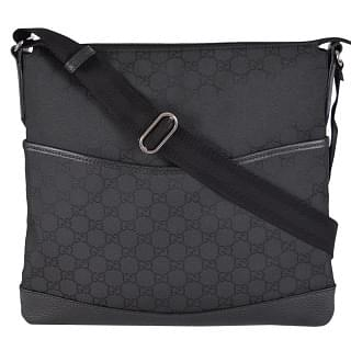 Gucci Black NYLON GG Guccissima Messenger Bag
