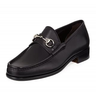 Gucci Black Leather 1953 Horsebit Loafers