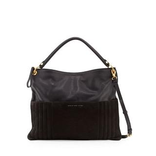 Marc Jacobs Tread Lightly Leather Suede Hobo Bag