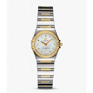Omega Constellation My Choice Gold & Steel - Gold Central Bar MOP