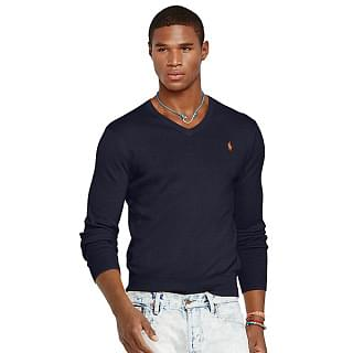 Polo Ralph Lauren Hunter Navy V Kneck Sweater