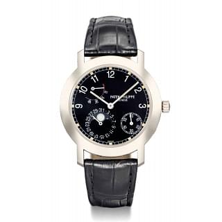 Patek Philippe 18K White Gold Automatic Moon Phase Power Reserve