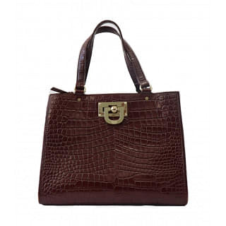 DKNY Crocodile effect leather Handbag