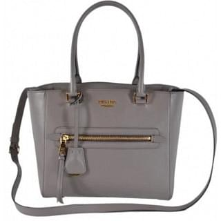 Prada Glace Leather Medium Convertible Tote