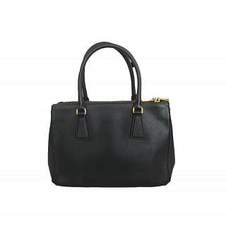 Prada Saffiano Lux Leather Small Double Zip Tote