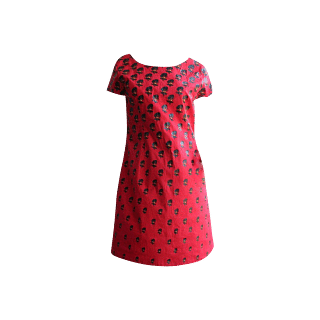 Red Play Clan Shift Dress