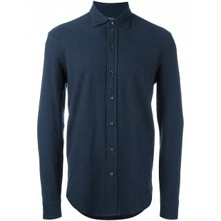 Polo Ralph Lauren Navy Blue Polo Full Sleeve Shirt