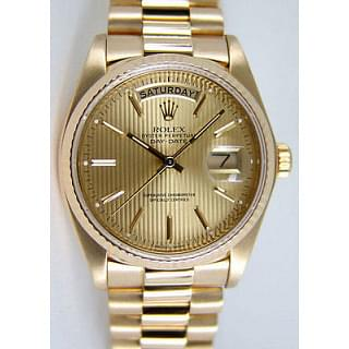 Rolex President 18k Yellow Gold with 2 years brand warranty
