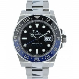 Rolex Batman 116710 BLNR GMT Master II 2 Mens Watch