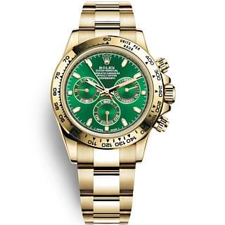 Rolex Cosmograph Daytona 18ct Yellow Gold Bright Green Dial Oyster Bracelet