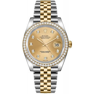 Rolex Datejust 36 Diamond Dial Stainless Steel & Gold Watch