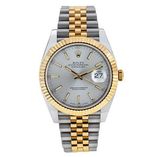 Rolex Datejust 41 Silver Dial Steel & Gold